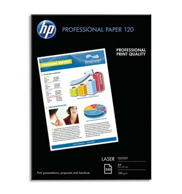 HP Pack de 250 Papier photo professionnel laser brillant 120g A4