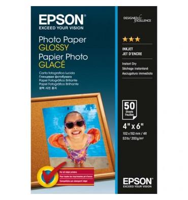 EPSON Pack de 50 feuilles papier photo jet d'encre glossy 10 x 15 cm 200g