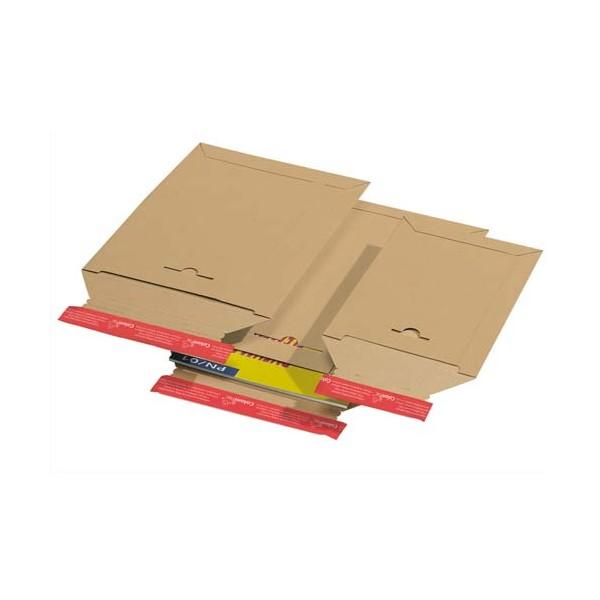 COLOMPAC Pochette d'expédition en carton brun A4, format 235 x 310 mm, hauteur jusque 3 cm (photo)
