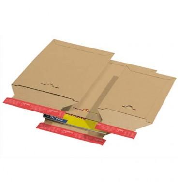 COLOMPAC Pochette d'expédition en carton brun A3, format 310 x 445 mm, hauteur jusque 3 cm