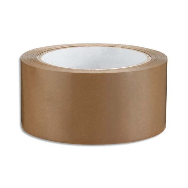 EMBALLAGE Ruban adhésif d'emballage silencieux en polypropylène havane 48 microns, format 48 mm x 66 m (photo)