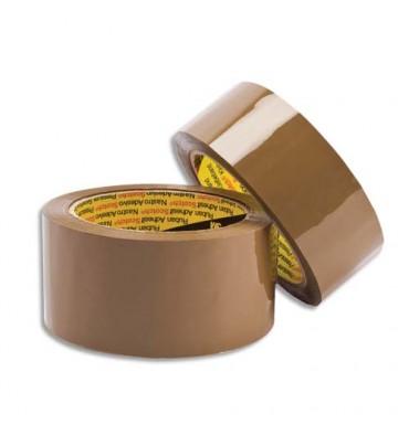 SCOTCH Rubans d'emballage en Polypropylène havane 48 microns, format 50 mm x 66 m
