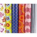 CLAIREFONTAINE Rouleaux papier cadeau ALLIANCE 60g 2 m x 0,70 mm 6 motifs fantaisies assortis