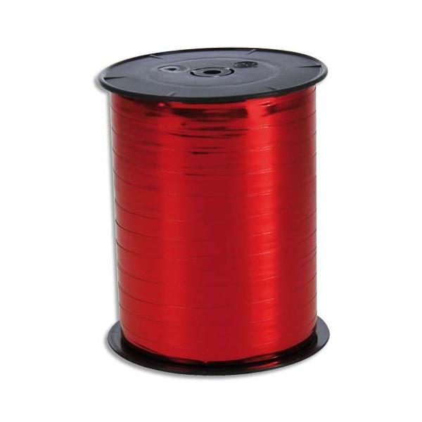 CLAIREFONTAINE Bobine bolduc de comptoir lisse coloris rouge 500m x 7mm (photo)