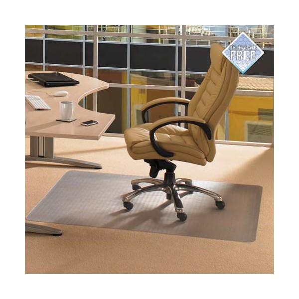 FLOORTEX Tapis protège-sols, sols durs ou moquette en polycarbonate - L200 x H150 cm transparent