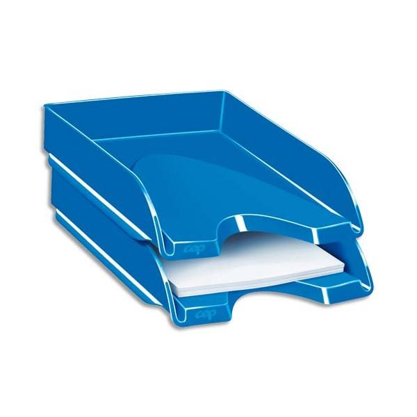 CEP Corbeille à courrier Gloss pour format 24 x 32 cm - 25,7 x 6,6 x 34,8 cm bleu océan
