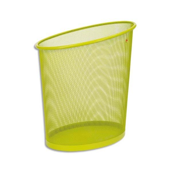 ALBA Corbeille à papier en métal Mesh 18 L vert (photo)