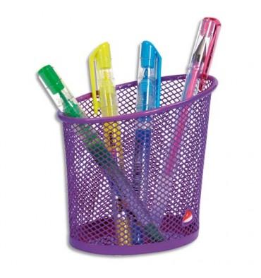 ALBA Pot à crayons en métal Mesh coloris violet