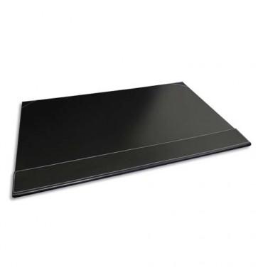 PAVO Sous-main à rabat simili cuir - 50 x 35 x 1 cm coloris noir