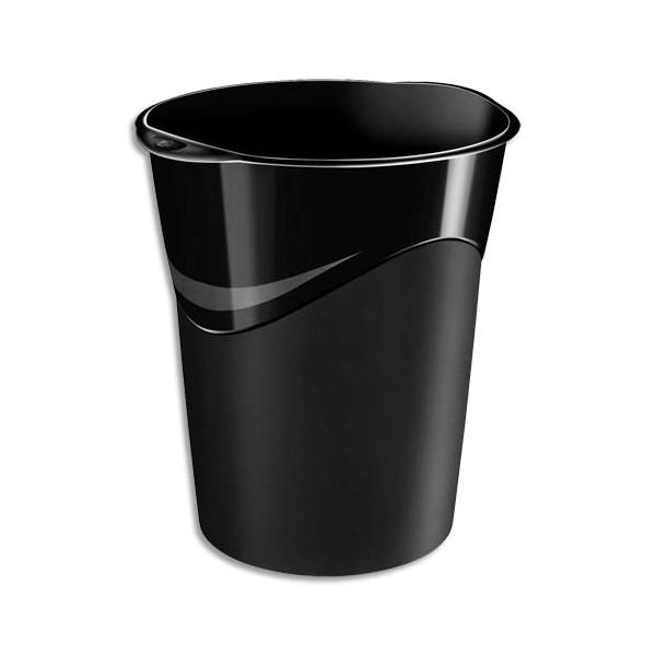 5 ETOILES Corbeille à papier capacité 14 L coloris noir (photo)