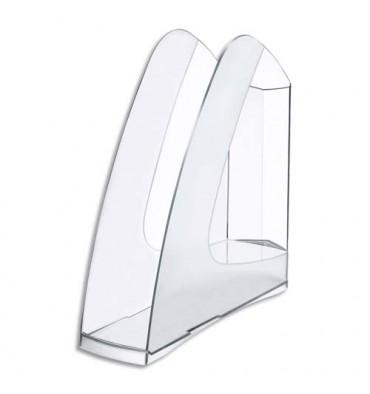 5 ETOILES Porte-revues en polystyrène pour format A4 coloris cristal