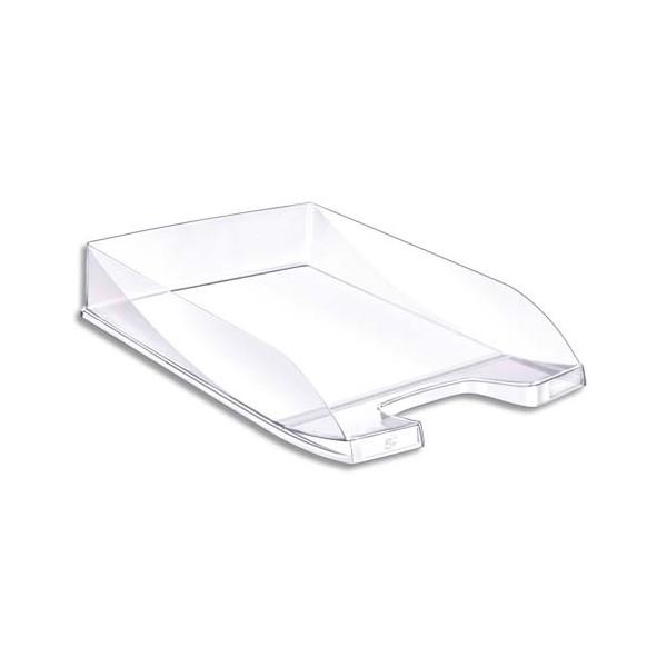 5 ETOILES Corbeille à courrier en polystyrène jusqu'au format 24 x 32 cm - 35 x 6,5 x 25,5 cm cristal (photo)