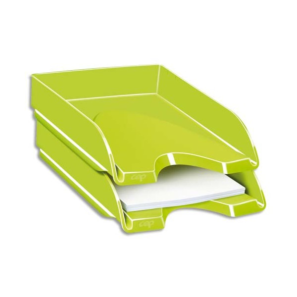 CEP Corbeille à courrier Gloss pour format 24 x 32 cm - 25,7 x 6,6 x 34,8 cm vert anis