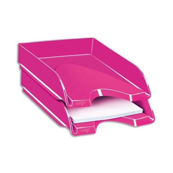 CEP Corbeille à courrier Gloss pour format 24 x 32 cm - 25,7 x 6,6 x 34,8 cm rose pepsi