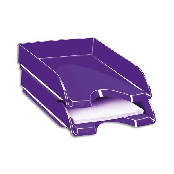CEP Corbeille à courrier Gloss pour format 24 x 32 cm - 25,7 x 6,6 x 34,8 cm violet