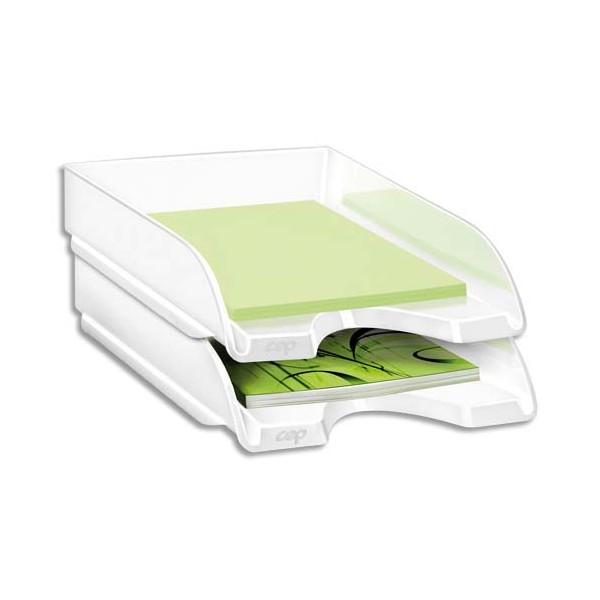 CEP Corbeille à courrier Gloss pour format 24 x 32 cm - 25,7 x 6,6 x 34,8 cm blanc arctique