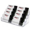 DEFLECTO Porte-cartes de visite 2x4 compartiments - coloris transparent