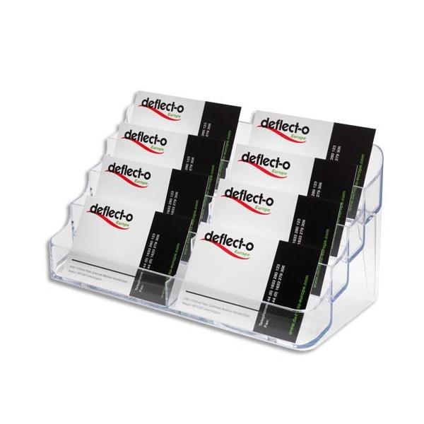 DEFLECTO Porte-cartes de visite 2x4 compartiments - coloris transparent (photo)