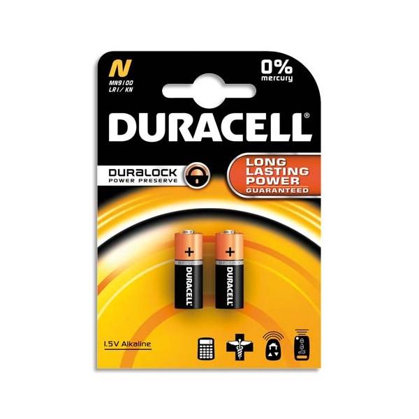 DURACELL Blister de 2 piles Alcalines N MN9100 Duralock pour alarmes et télécommandes (photo)