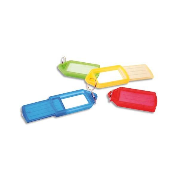 PAVO Sachet de 50 porte-clés avec anneaux - Dimensions 5,7 x 3 cm coloris assortis (photo)