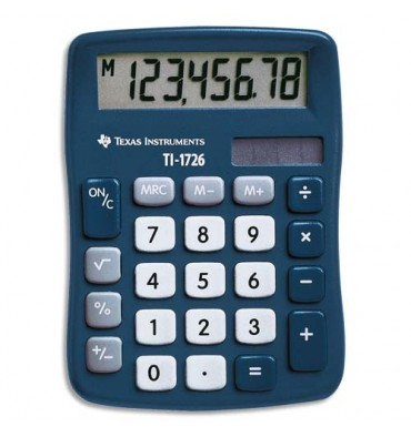 TEXAS INSTRUMENTS Calculatrice de poche 8 chiffres TI 1726