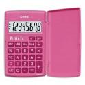 """CASIO Calculatrice Primaire """"Petite FX"""" à 8 chiffres avec clapet de protection, coloris rose"""