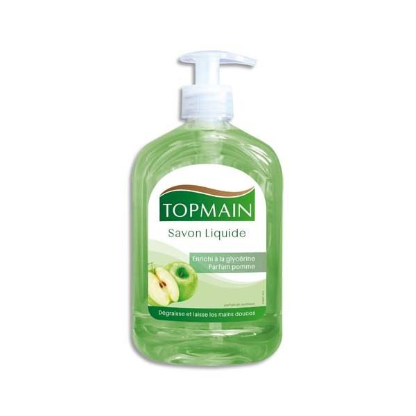 TOPMAIN Flacon de savon liquide à pompe 500 ml parfum pomme