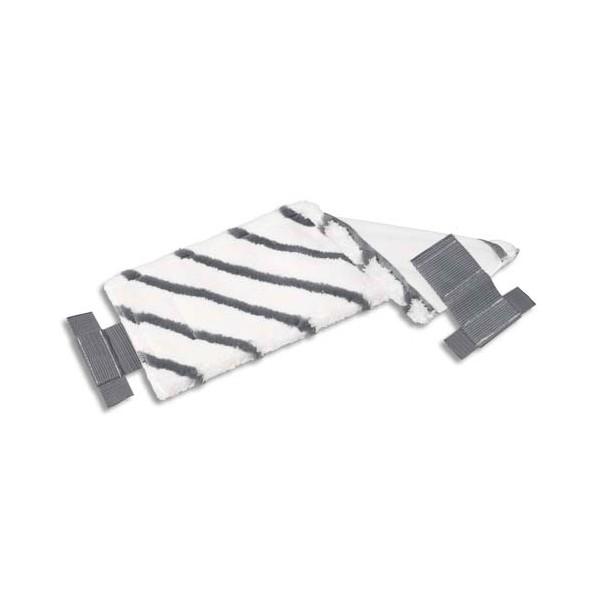 VILEDA Frange en microfibre bandes diagonales en polyamide UltraSpeed - 40 x 15 cm blanc noir