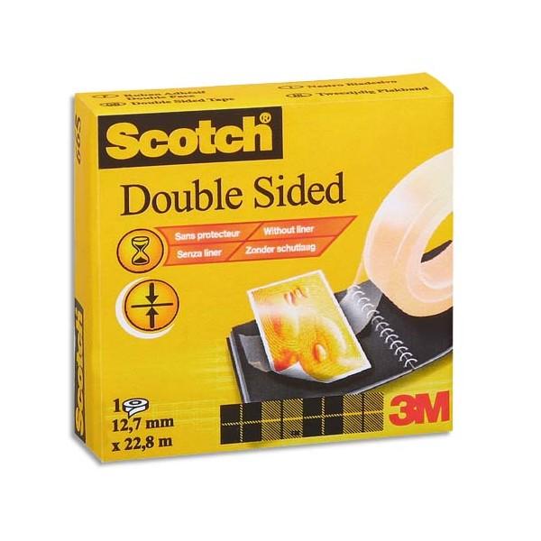 SCOTCH Adhésif double face 665 Transparent, 12 mm x 33 m (photo)