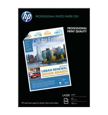 HP Pack de 100 feuilles Papier photo professionnel laser mat 120g A4