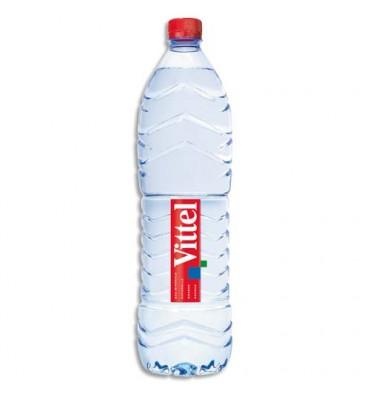 VITTEL Pack de 15 bouteilles plastiques d'eau de 1 litre