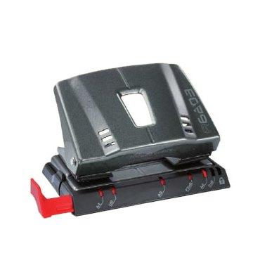 MAPED OFFICE Perforateur 2 trous ADVANCED A 6203 métal, coloris noir, capacité 25 feuilles