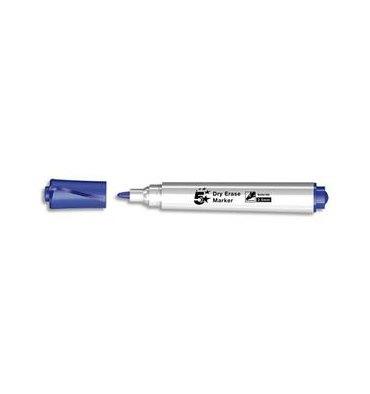 5 ETOILES Marqueur effaçable à sec pour tableaux blancs corps plastique pointe ogive encre bleue