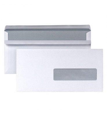 NEUTRE Boîte 500 enveloppes autocollantes 80g format DL 110 x 220 mm fenetre 35 x 100 mm