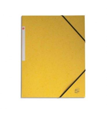 5 ETOILES Chemise simple à élastique en carte lustrée 5/10ème, 450g. Coloris jaune
