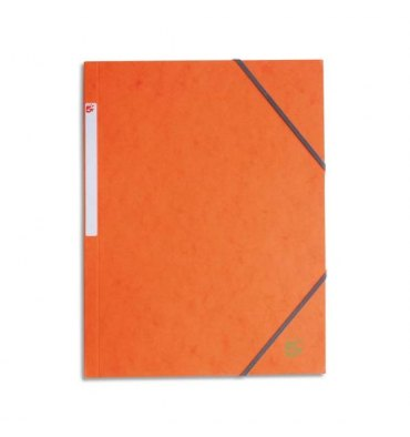 5 ETOILES Chemise simple à élastique en carte lustrée 5/10ème, 450g, coloris orange