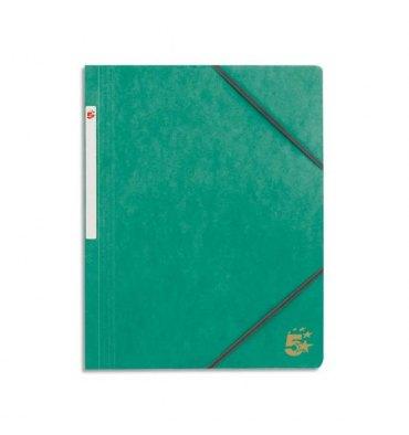 5 ETOILES Chemise simple à élastique en carte lustrée 5/10ème, 450g. Coloris vert