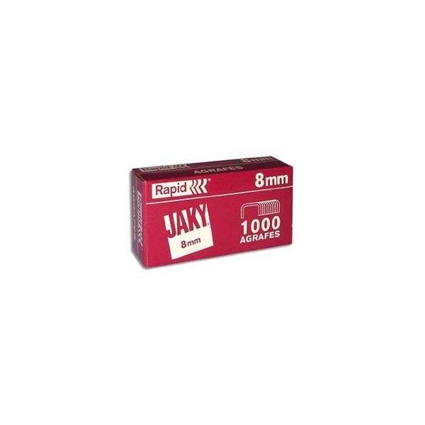 RAPID Boîte de 1000 agrafes JAKY 8 cuivré