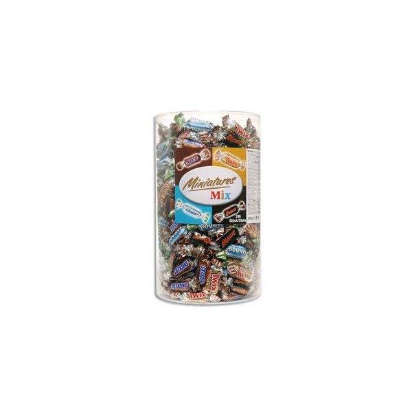 MARS, BOUNTY, SNIKERS, TWIX Assortiment de mini bonbons confiseries 3 kg, tubo de 96 pièces (photo)