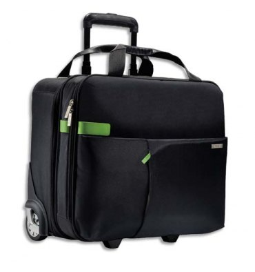 "LEITZ Trolley cabine Inch carry-on 15,6"" 2 compartiments, fixation pour valise - L43 x H37 x P20 cm noir"