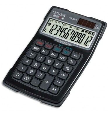 CITIZEN Calculatrice Water Proof WR3000