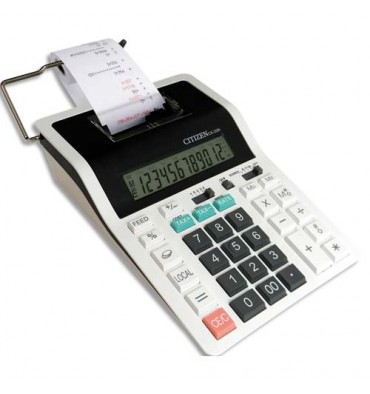 CITIZEN Calculatrice Imprimante à 12 chiffres CX32N, coloris blanc