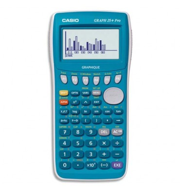 "CASIO Calculatrice Graphique ""GRAPH 25+E"", coloris bleu"