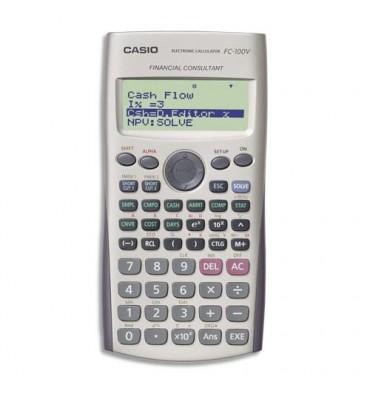 CASIO Calculatrice Financière à 12 chiffres programmable, FC200 V, coloris gris
