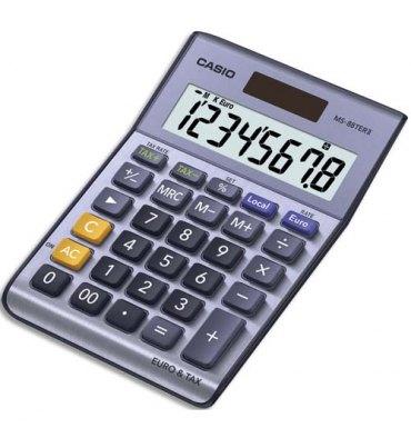 CASIO Calculatrice de poche 8 chiffres MS88TER