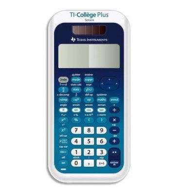 TEXAS INSTRUMENTS Calculatrice scientifique TI Collège Plus Solaire, coloris bleu