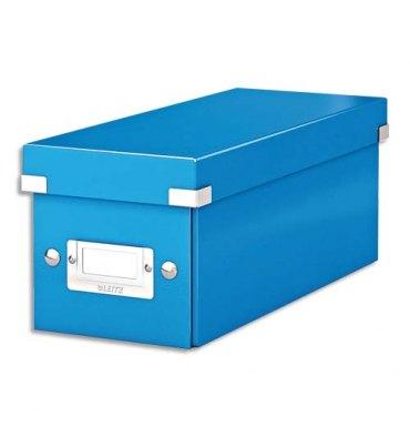 LEITZ Boîte de rangement pour CD Click & Store coloris WOW bleu