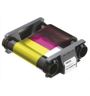 EVOLIS Badgy Ruban couleur YMCKO pour 100 impressions + 100 cartes PVC épaisses (0,76 mm)
