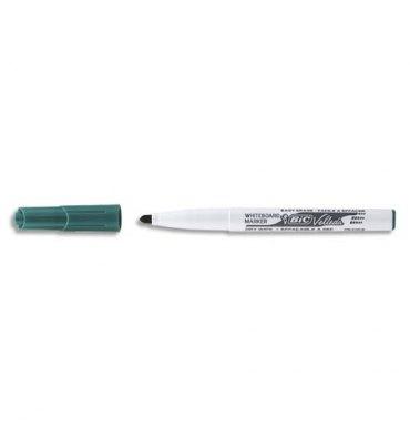 BIC Feutre effaçable à sec pour tableaux blancs pointe ogive encre cétone verte VELLEDA 1741