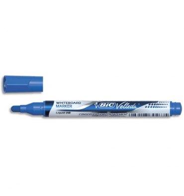 BIC Marqueur effaçable à sec VELLEDA Pocket, pointe ogive, encre liquide bleue